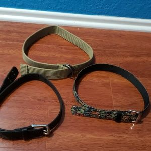 Bundle of 3 boys belts